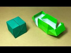 Origami Gift Box with one piece of paper - YouTube
