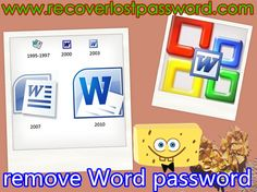 forgot word document password 2010