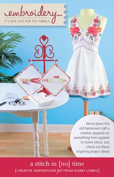Embroidery... It's not just for tea towels. We've given this old-fashioned craft a creative upgrade on everything from apparel to home decor. Just check out these inspiring project ideas!