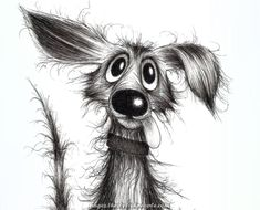 Best Ideas For Dogs Cartoon Illustration Funny Dog Illustration, Illustrations, Animal Drawings, Cute Drawings, Cartoon Dog Drawing, Puppy Drawing, Black And White Cartoon, Black White, Bild Tattoos