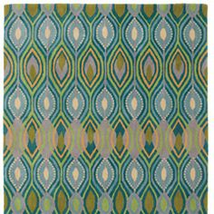 Rug: Company C Wool Rug Deco Peacock
