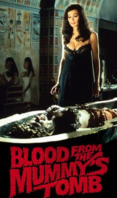 Classic Hammer Films : Valerie Leon - Blood From The Mummy's Tomb, 1971 Hammer Horror Films, Hammer Films, Sexy Horror, Gothic Horror, Horror Art, Valerie Leon, Horror Posters, Famous Monsters, Classic Horror Movies