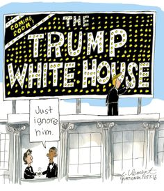 a trumptoon by Gary Clement