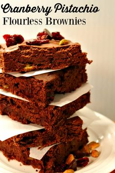 Cranberry Pistachio Flourless Brownies are quick to prepare and full of nutrition.