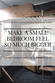 Looking for Space Saving ideas for a small bedroom? Look no further.  Be it  a girls or boys bedroom, young or teenager this is for you. Packed full of cheap DIY projects for those of us on a budget. Along with my top tips on how to make a small bedroom feel huge! #ideasforsmallrooms #smallbedroomideas #teenagerssmallbedroomideas Maximize Space, Create Space, One Bedroom, Bedroom Ideas, Fold Away Desk, Interior Design Inspiration, Design Ideas, Online Interior Design Services, Space Up