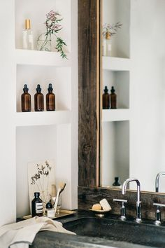 a touch of rustic for the bathroom