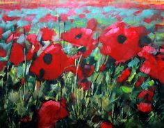 samuel durkin artist | Field of Poppies. Painting by Samuel Durkin by Samuel Durkin