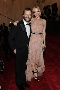 Judd Apatow with Leslie Mann in Nina Ricci.