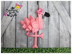 Pinza de pelo de la escultura de cinta Flamingo. Pinza de pelo Flamingo.