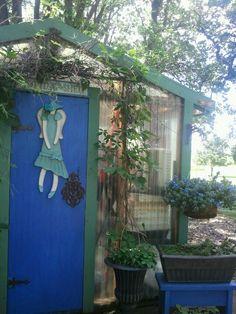 My greenhouse door in summer