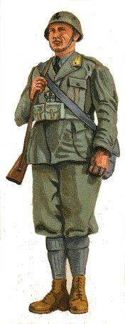 Regio Esercito - Uniformi della Regia Guardia di Finanza - Tavole Uniformi, Guardia mobilitata 1940-45, pin by Paolo Marzioli