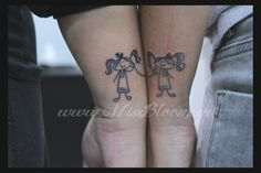 """Mary-Land Blog: S02Ep14 """"The one about my twin tattoo.""""....maybe not the stick figures but love the concept...maybe anchors"""