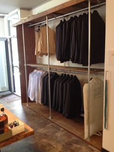 See how to organize mens closet with a closet system. I will give you some closet declutter tips as well. Walk In Closet Small, Small Closets, Dream Closets, Open Wardrobe, Diy Wardrobe, Bedroom Closet Design, Closet Designs, Simple Closet, Closet Remodel