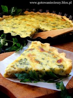 Tarta z Porem i Pieczarkami Leek Tart, Impreza, Quiche, Stuffed Mushrooms, Pizza, Baking, Pastries, Breakfast, Party Time