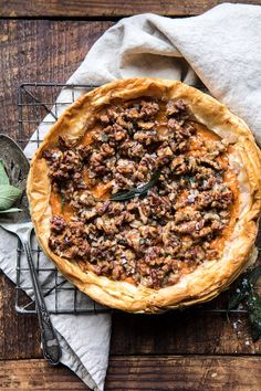 Cajun Delicacies Is A Lot More Than Just Yet Another Food Bourbon Pecan Sweet Potato Phyllo Casserole Omelettes, Quiches, Thanksgiving Recipes, Fall Recipes, Holiday Recipes, Holiday Foods, Thanksgiving 2020, Thanksgiving Casserole, Yummy Recipes