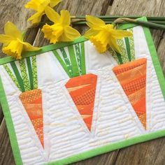 Carrots by Leila Gardunia through Diary of a Quilter