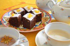 Lamboadas de Samhaim: Brownie con naranjas y crema de caramelo