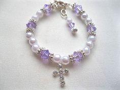 Newborn Godchild Gift Newborn Godchild Bracelet Pearl by ctroum