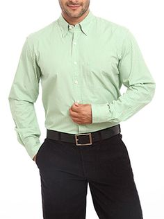 The premium casual stripe shirt from Color Plus looks highly professional. It is designed keeping the taste and choice of corporate people in mind. It is made of high-quality skin-friendly and wrinkle-free fabric. This medium green-colored full sleeve shirt is tailored fit that ensures superior comfort. This striped shirt is ideal for your office as well as for your social gatherings. It will enhance your personality and also boost your confidence level. This shirt will surely bring you ...