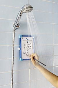 Shower thinkers? this one is for you.. Eureka waterproof whiteboard & notepad!