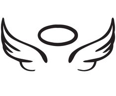 easy to draw angel wings halo Angel Wings Clip Art, Angel Wings Drawing, Small Angel Wings, Angle Wing Tattoos, Small Wing Tattoos, Halo Tattoo, Halo Drawings, Easy Tattoos To Draw, Angel Silhouette
