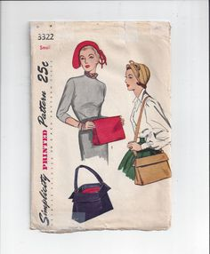 Simplicity 3322 Pattern for Misses' Hat and by VictorianWardrobe, $12.00