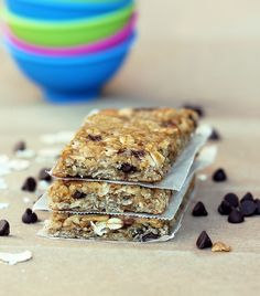 No-fail chewy granola bar recipe, with lots of variations. Literally the best granola bar I've tried.