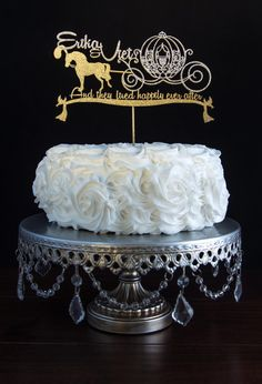 Wedding Custom Cake Topper Cinderella Horse Carriage By Cakesparkle Personalized Disney Www