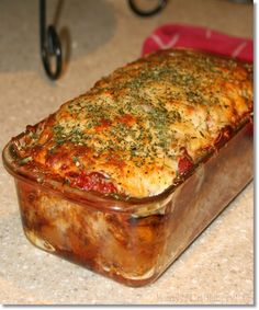 Parmesan Meatloaf {Gluten Free}, i would still used ground beef, though