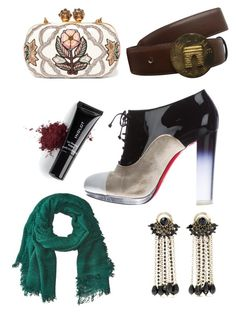 """""""None"""" by jamie-fabbro on Polyvore featuring Christian Louboutin, Bindya, CÉLINE, Etro, Alexander McQueen and Inglot"""