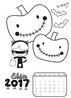 2017 Takvim Boyama Sayfaları