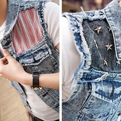 2012 fashion star rivet sleeveless patchwork men slim fit blue jean vest denim jacket coat waistcoat vests for men-in Vests & Waistcoats from Apparel & Accessories on Aliexpress.com