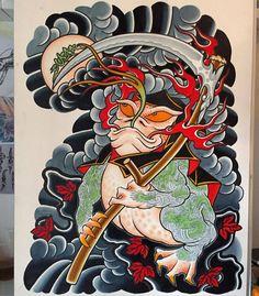 i like horimono. — by mariusmey. Traditional Japanese Tattoo Flash, Japanese Back Tattoo, Japanese Drawings, Japanese Tattoo Designs, Japanese Sleeve Tattoos, Japanese Prints, Traditional Tattoo, Guardian Tattoo, Japan Tattoo Design