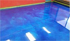 Metallic Epoxy Blue Flooring - Dayton OH