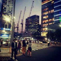 Nightfall in the centre of Tokyo. Image taken by @Anita Isalska #LP #travel #Japan #Tokyo #Ginza