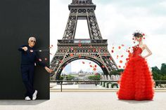 City of love. The designer showcases a dress that's as monumental as the Eiffel Tower. Giorgio Armani Privé dress and veil, price upon request, 212-988-9191. Model: Emmy Rappe; hair: Peter Gray for L'Oréal Professionnel; makeup: Linda Cantello for Giorgio Armani Beauty.