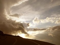 Color Photograph - Mountain Sky Road and Clouds