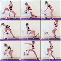 home leg workout videos - home leg workout . home leg workout no weights . home leg workout men . home leg workout with bands . home leg workout with weights . home leg workout for men . home leg workout videos Fitness Workouts, Full Body Workouts, Body Workout At Home, Gym Workout Tips, Butt Workout, Workout Exercises, Core Workout Routine, Chair Workout, Fitness Motivation