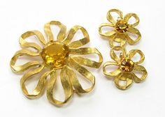 Van S. Authentics Golden Rhinestone and Goldtone by SassyBeauties, $25.00