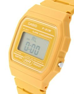 Enlarge Casio F-91WC-9AEF Digital Yellow Watch
