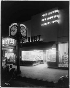 Arthur's Jewelry Store, Huntington Park, 1937  Southern California Edison Photographs and Negatives, Huntington Digital Library