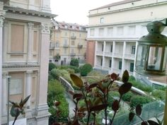 Vista Mole Antonelliana dal balcone finestra della camera da letto