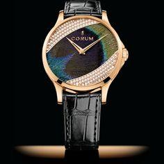 Corum Artisans Feather Watch Diamonds Red Gold #luxurywatch #Corum-swiss Corum Swiss Watchmakers watches #horlogerie @calibrelondon