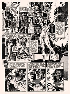 """Wallace Wood - still at the peak of his powers - delivered one of his greatest masterpieces, """"To Kill A God,"""" in 1971. 1st published in Vampirella #12 (Warren, July, 1971) copyright notice to Wood, in World of Wood #4 (Eclipse, 1986)"""