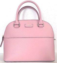 NWT Kate Spade Carli Grove Street Leather handbag Pink Bonnet 77c0ee7328