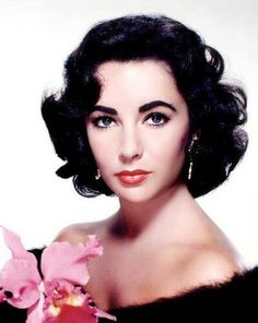 Elizabeth Taylor, a woman so beautiful no other one human can compare. Only one other person I've ever met comes close to this kind of striking contrast of beauty, the darkest of hair, the lightest of skin and the brightest of eyes and I am lucky enough to call her my sister.