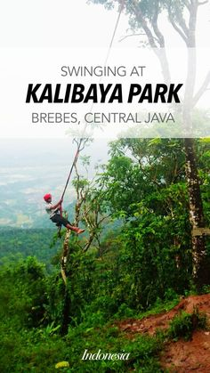 Space Swing, a swing that probably you could only find here in Kalibaya Park, Brebes, Central Java, Indonesia.