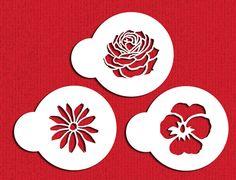 DS737 - Garden Flowers Cupcake Stencil Set