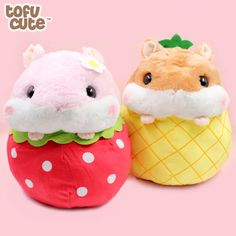 Sewing Stuffed Animals Amuse giant fruit hamsters plush - Tofu Cute - So many great offers to celebrate Tofu Cute's kawaii new website - see what's on our wish list with Rement miniatures, plush and ice cream Kit Kats! Sewing Stuffed Animals, Cute Stuffed Animals, Cute Animals, Giant Plush, Cute Hamsters, Birthday List, Animal Crafts, Animal Pillows, Plushies