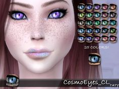 tatygagg's - Female, Male Found in TSR Category 'Sims 4 Eye Colors' Sims 4 Cc Eyes, Sims 4 Cc Skin, Sims 4 Cas, Sims Cc, Mermaid Eyes, Galaxy Makeup, Galaxy Eyes, Sims Community, Sims 4 Cc Finds